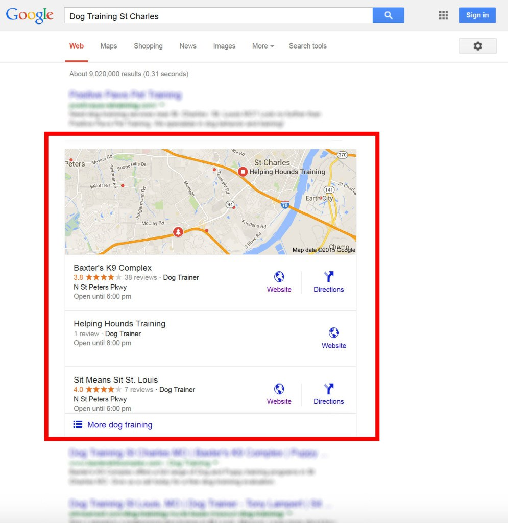 google-local-3-pack-search-results